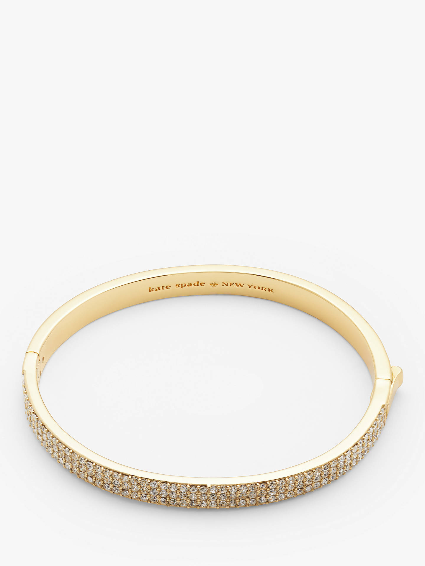 Buy kate spade new york Cubic Zirconia Clasp Bangle, Gold Online at johnlewis.com