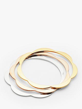 kate spade new york Flower Bangle, Set of 3, Multi