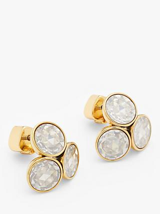 kate spade new york Cluster Cubic Zirconia Stud Earrings, Gold