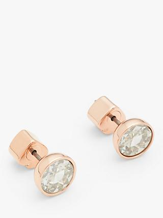 kate spade new york Cubic Zirconia Round Stud Earrings, Rose Gold