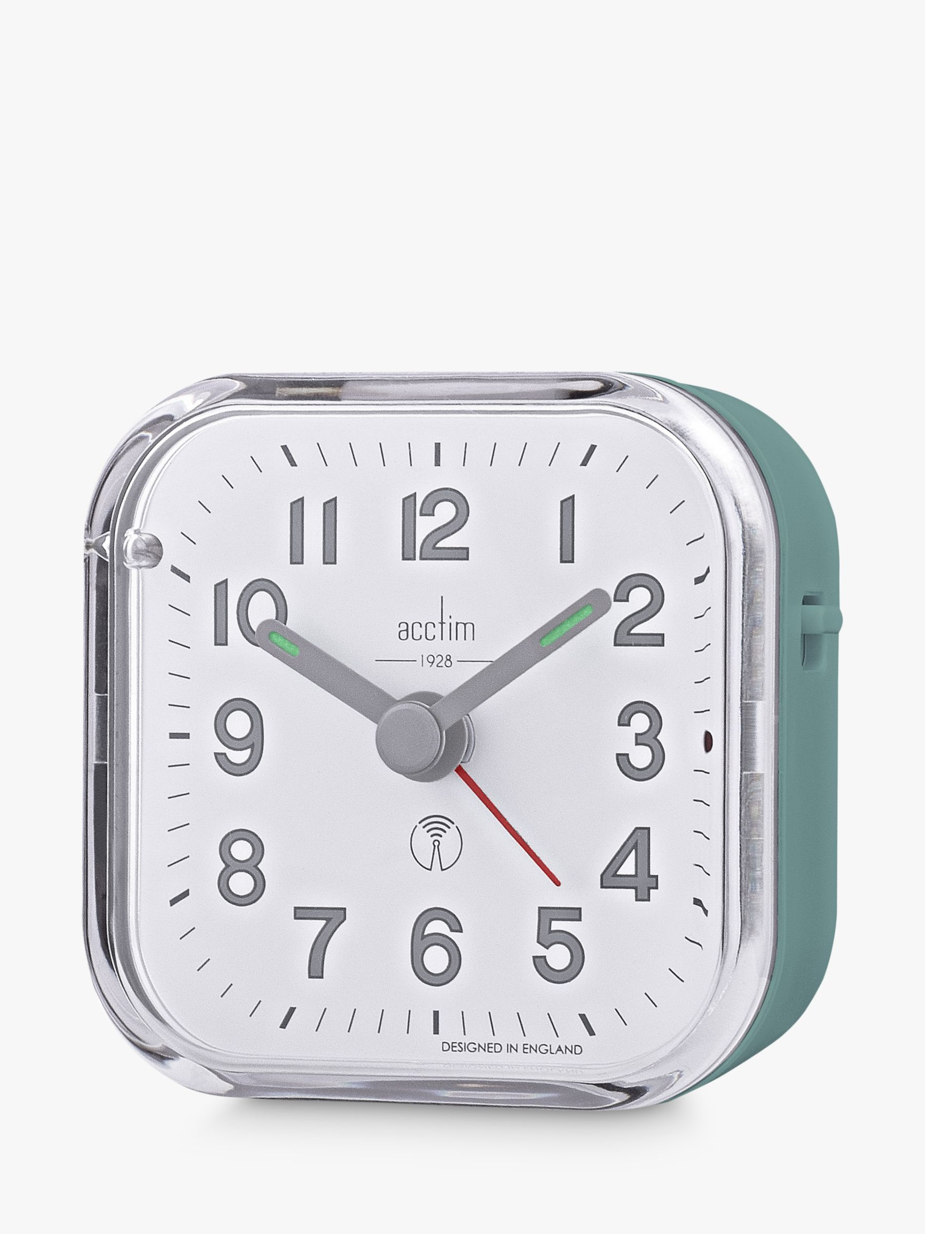 Acctim Acctim Radio Controlled Analogue Alarm Clock, Moss Green