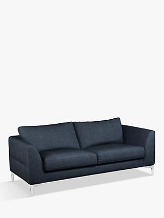 John Lewis & Partners Belgrave Grand 4 Seater Sofa, Metal Leg, Erin Midnight