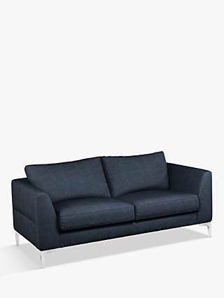 John Lewis & Partners Belgrave Medium 2 Seater Sofa, Metal Leg, Erin Midnight