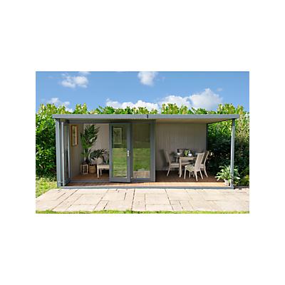Crane 3 x 5.4m The Hub Plus Left-Hand Corner Garden Studio, FSC-Certified (Scandinavian Redwood)