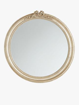 John Lewis & Partners Bow Round Mirror, 80cm, Gold