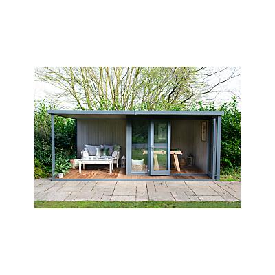 Crane 3 x 5.4m The Hub Plus Right-Hand Corner Garden Studio, FSC-Certified (Scandinavian Redwood)