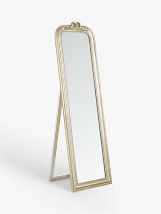 John Lewis & Partners Bow Freestanding Cheval Mirror, 168 x 50cm, Gold