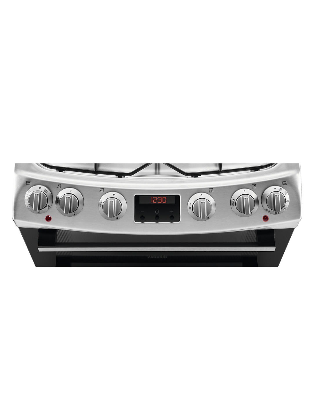Buy Zanussi ZCK66350XA Double Dual Fuel Cooker, 60cm Wide, A Energy Rating, Stainless Steel Online at johnlewis.com