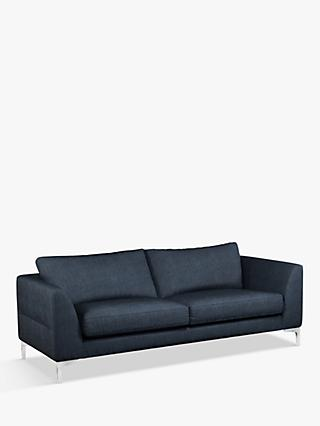 John Lewis & Partners Belgrave Large 3 Seater Sofa, Metal Leg, Erin Midnight
