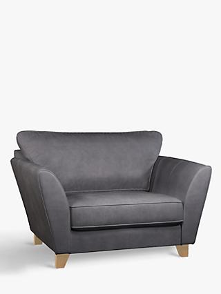 John Lewis & Partners Oslo Leather Snuggler, Light Leg