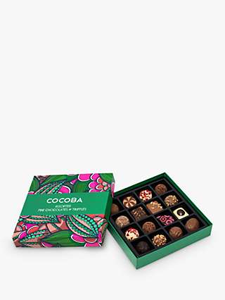 Cocoba 16 Assorted Chocolate and Truffle Gift Box, 220g