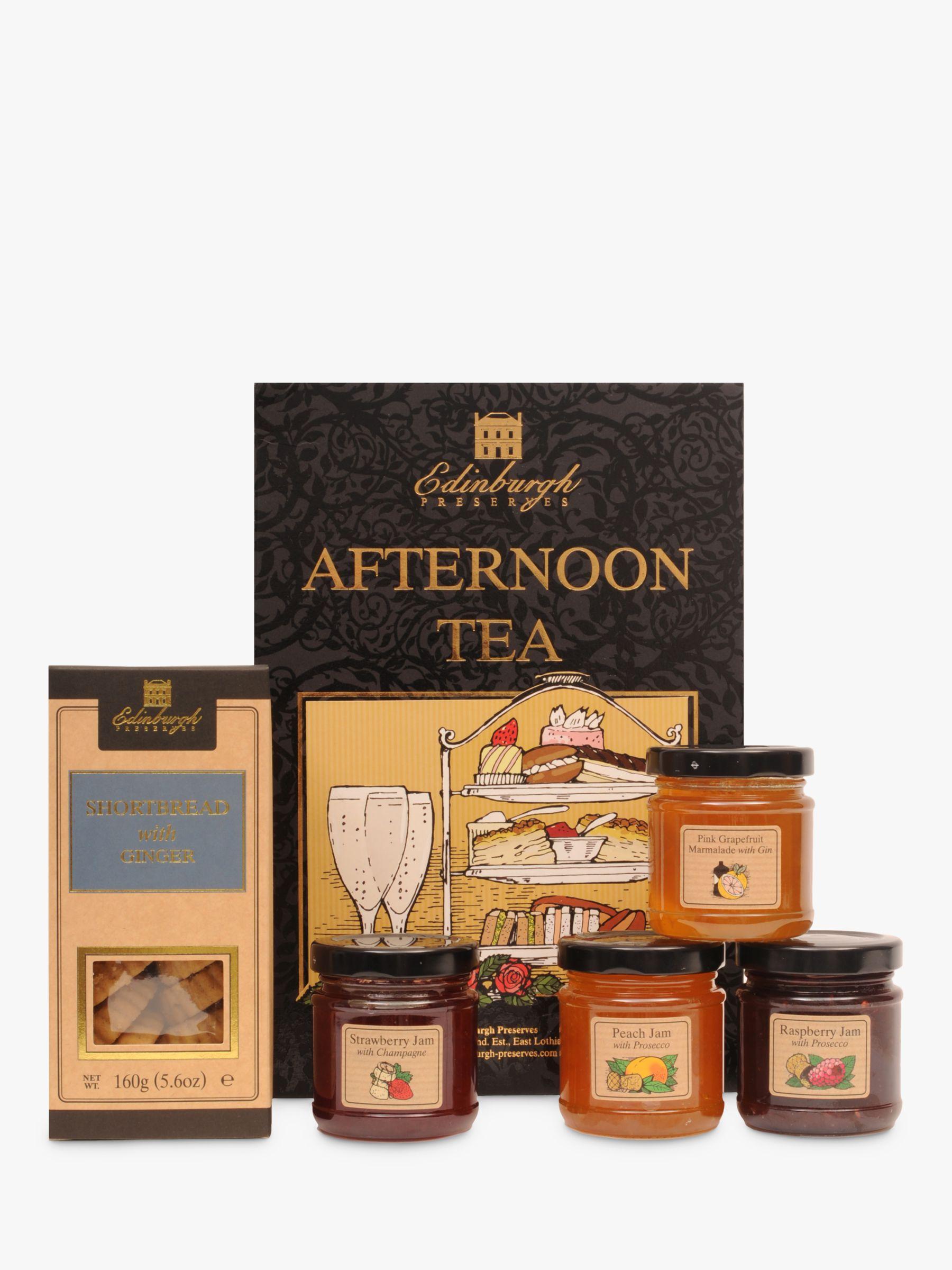 Edinburgh Preserves Edinburgh Preserves Afternoon Tea Jam Fizz & Shortbread Gift Set, 612g