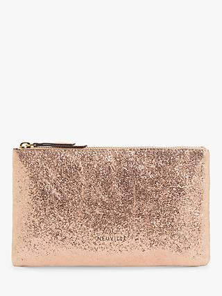 Neuville Terro Leather Midi Pouch Purse