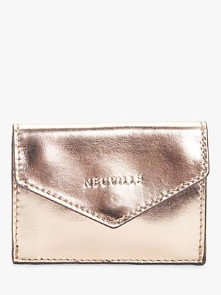 Neuville Party Leather Travel Card Holder Purse