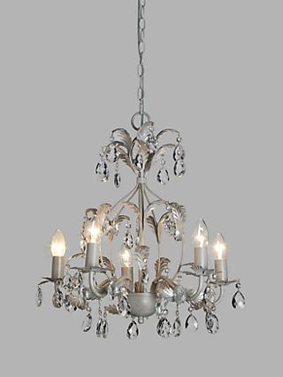 John Lewis & Partners Arbour Crystal Chandelier Ceiling Light, Cream