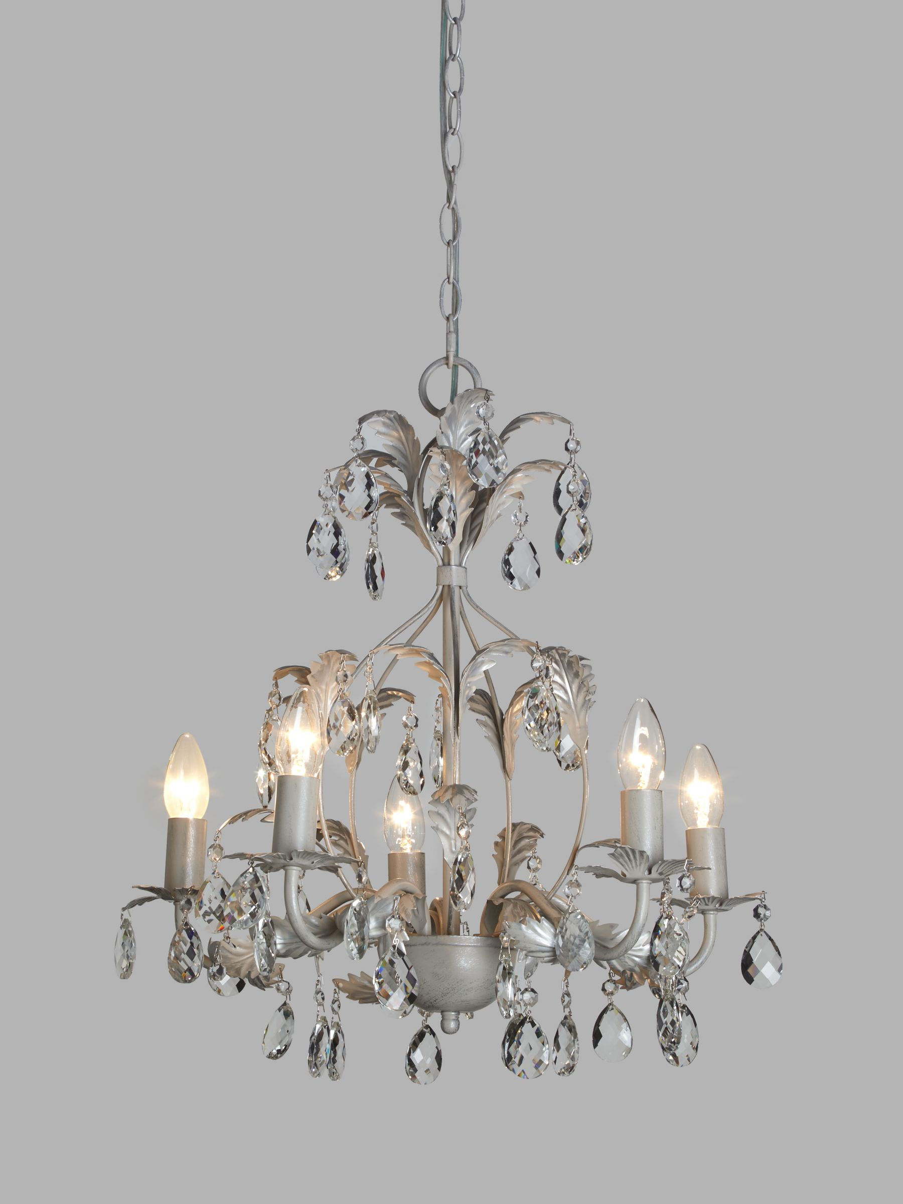 John Lewis & Partners Arbour Crystal Chandelier Ceiling Light, Cream