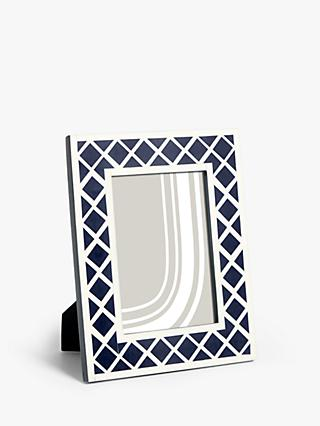 "John Lewis & Partners Diamond Photo Frame, 5 x 7"" (13 x 18cm), Navy"