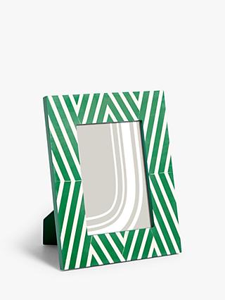 "John Lewis & Partners Parallel Lines Photo Frame, 5 x 7"" (13 x 18cm), Green"