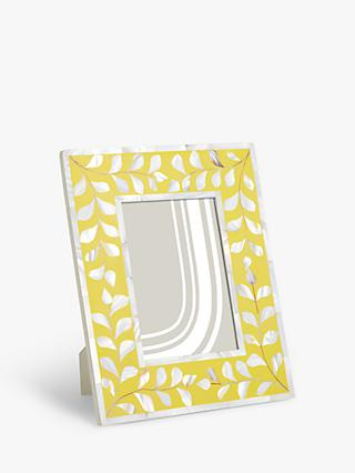 "John Lewis & Partners Mother Of Pearl Leaves Photo Frame, 5 x 7"" (13 x 18cm)"