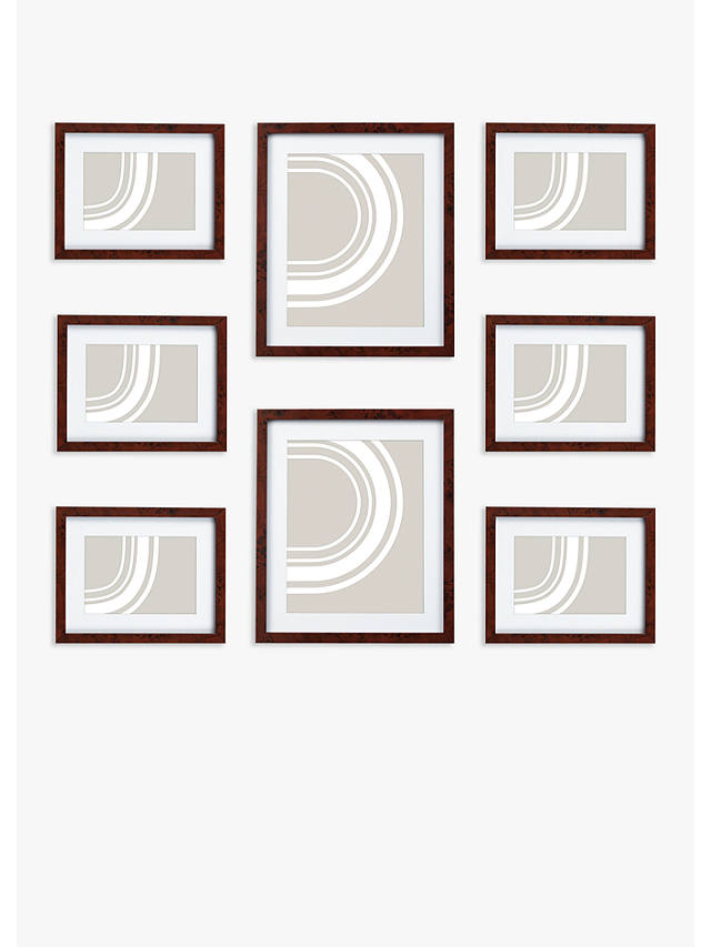 Buy John Lewis & Partners Gallery Set Multi-aperture Photo Frames, 8 Photo, Walnut Online at johnlewis.com