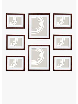 John Lewis & Partners Gallery Set Multi-aperture Photo Frames, 8 Photo, Walnut