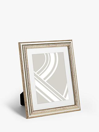 John Lewis & Partners Ribbed Photo Frame & Mount, Champagne