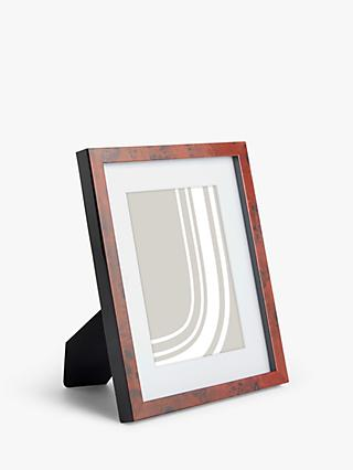 John Lewis & Partners Walnut Veneer Photo Frame & Mount