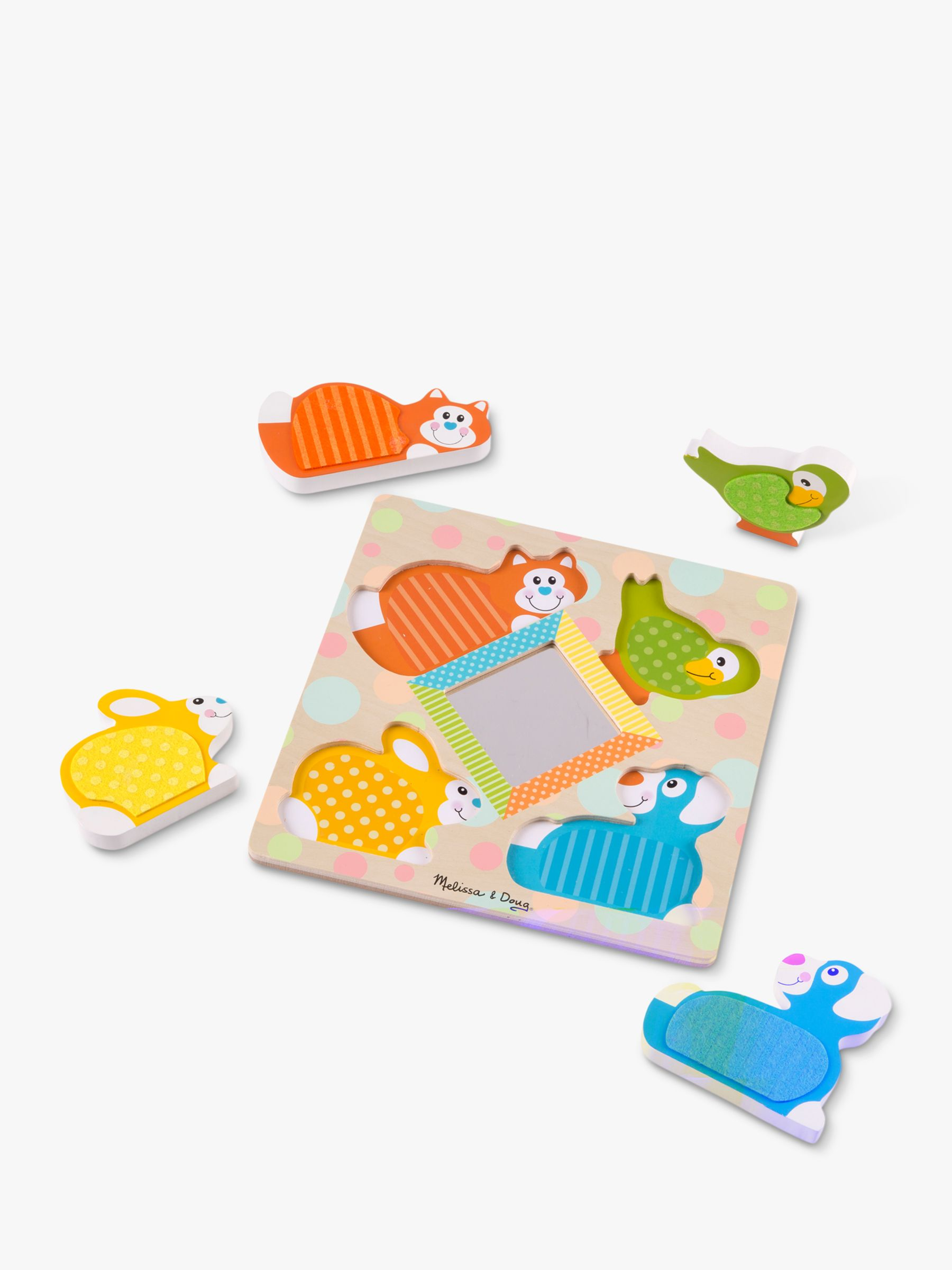 Melissa & Doug Melissa & Doug First Play Wooden Touch and Feel Peek-a-Boo Pets Puzzle