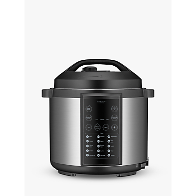 John Lewis & Partners JLPC166 Stainless Steel Electric Pressure Cooker, 5.7L