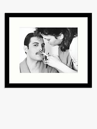 Getty Images - Grooming Freddie Mercury Wood Framed Print & Mount, 49.5 x 57.5cm