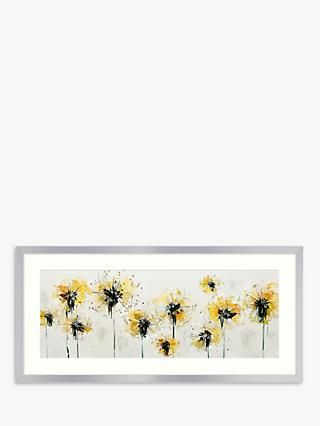Green Lili - Fields Of Gold Framed Print & Mount, 49.5 x 104.5cm, Yellow/Multi