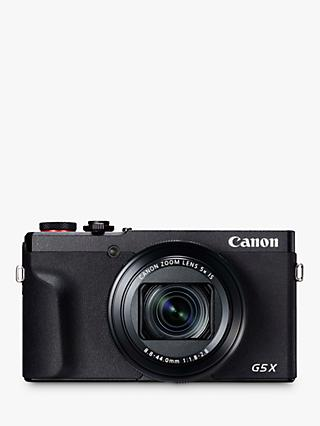 "Canon PowerShot G5 X Mark II Digital Camera, 4K Ultra HD, 20.1 MP, 5x Optical Zoom, Wi-Fi, Bluetooth, EVF, 3"" Tilting Touch Screen"