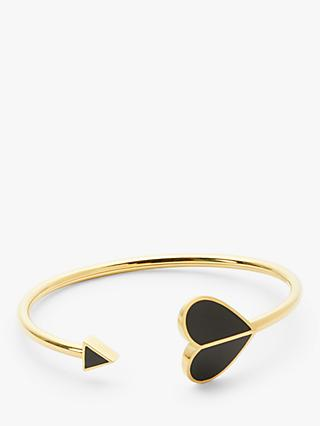 kate spade new york Heart Large Cuff, Gold/Black