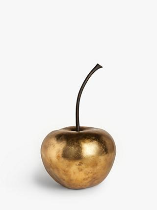 John Lewis & Partners Large Cherry Sculpture, H54cm, Gold