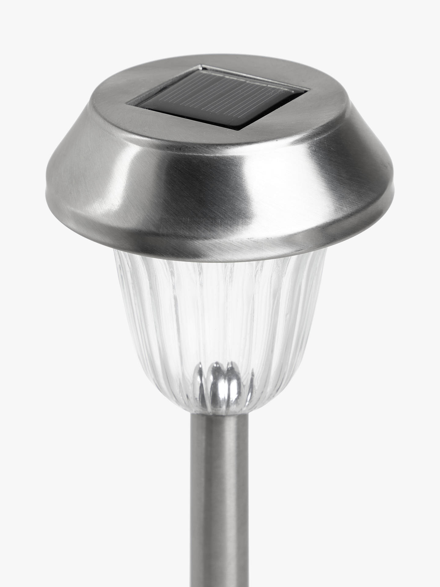 Buy John Lewis & Partners Onslow Solar LED Outdoor Stake Lights, Chrome, Set of 2 Online at johnlewis.com