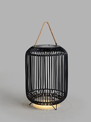 John Lewis & Partners Rattan Solar Powered Garden Lantern, Large