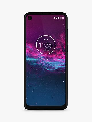 "Motorola One Action SIM Free Smartphone, Android, 6.3"", 4G LTE, SIM Free, 4GB RAM, 128GB, Denim Blue"