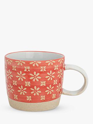 BlissHome Nadiya Hussain Flower Mug, 250ml, Red