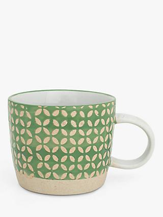 BlissHome Nadiya Hussain Diamond Mug, 250ml, Green