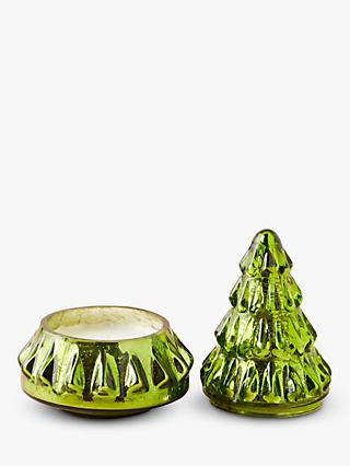 Anthropologie Green Christmas Tree Scented Candle, 400g
