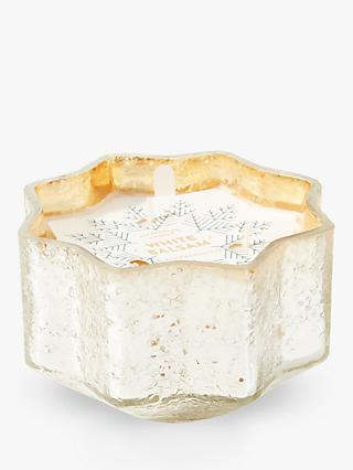 Anthropologie White Balsam Scented Star Candle, 270g
