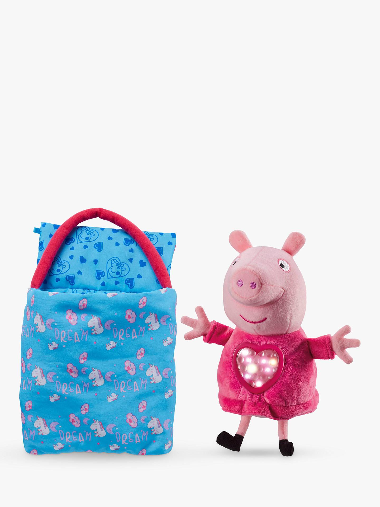 Peppa Pig ~ Sleepover Peppa Plush ~ Plays Lullaby Music