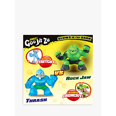 Heroes of Goo Jit Zu Thrash and Rock Jaw Versus Squishy Action Figures