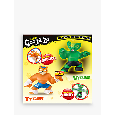 Image of Heroes of Goo Jit Zu Tygor and Viper Versus Squishy Action Figures