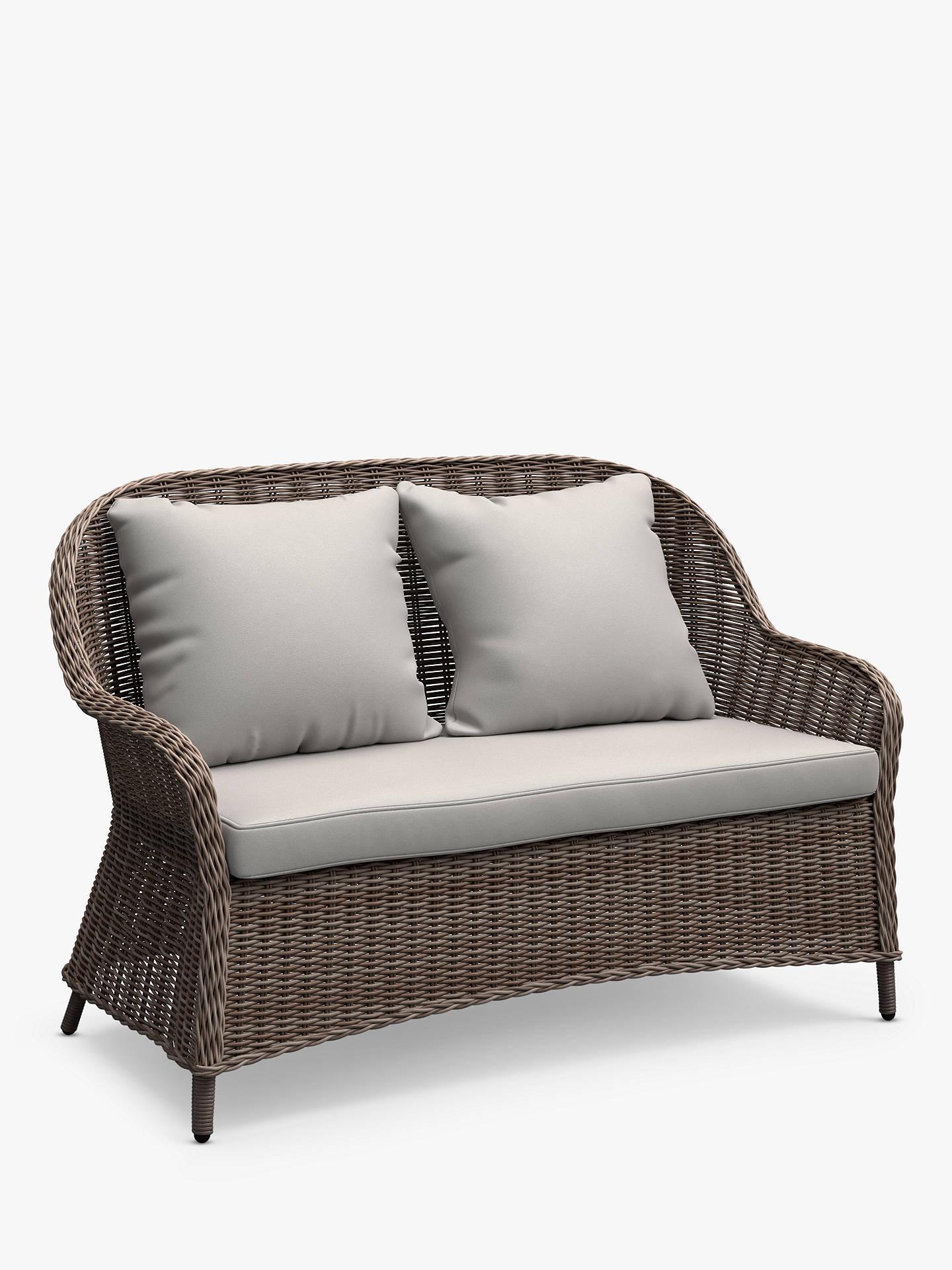 John Lewis & Partners Rye 8-Seat Garden Sofa, Natural