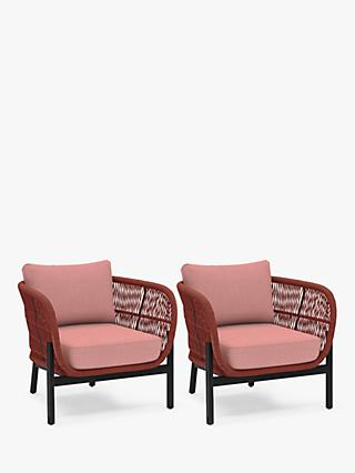 John Lewis & Partners Basket Rope Garden Lounging Armchairs, Set of 2