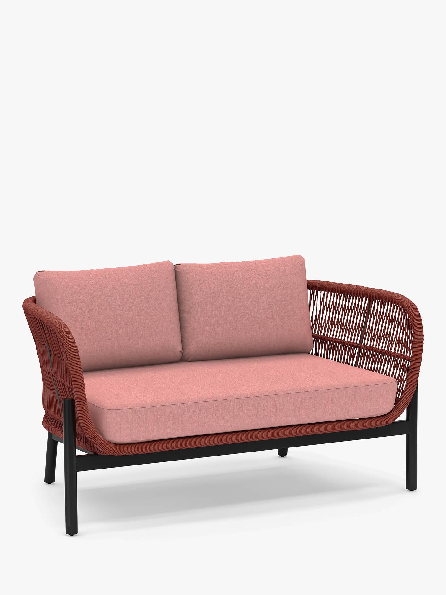John Lewis & Partners Basket Rope 8-Seat Garden Sofa, Terracotta