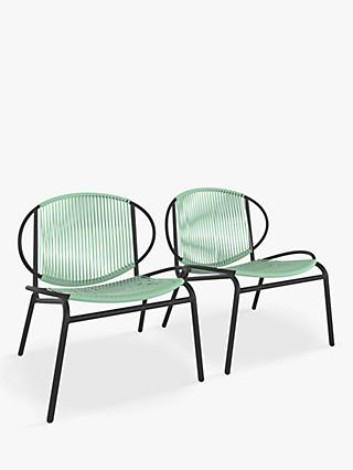 John Lewis & Partners Ellipse Garden Lounging Chairs, Set of 2