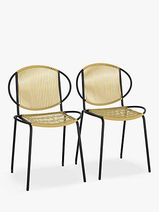 John Lewis & Partners Ellipse Garden Bistro Chairs, Set of 2