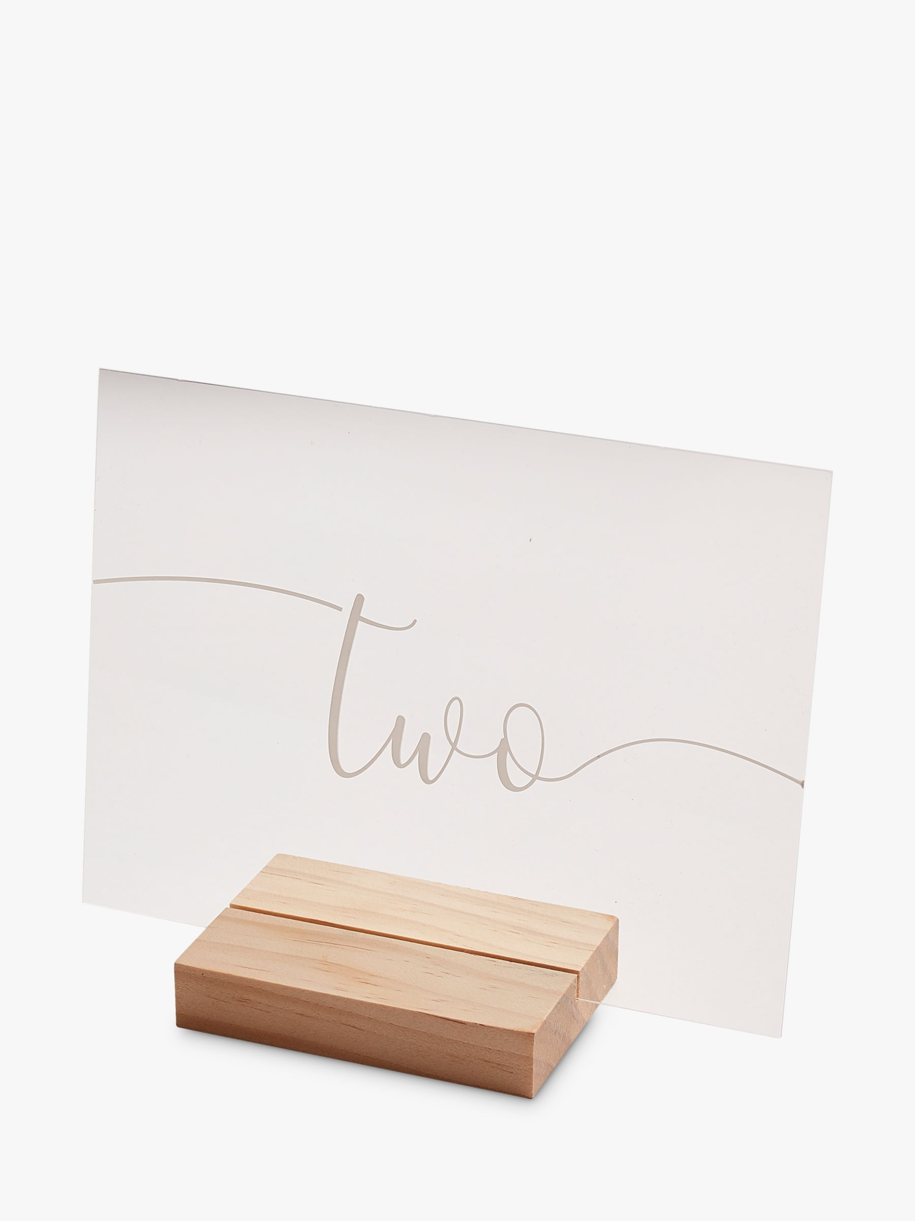 Ginger Ray Ginger Ray Wedding Table Numbers, Pack of 12